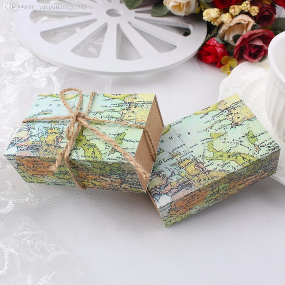 Novelty World Map Gift Box For Christmas Decorations Kraft Paper     How to make your gift beautiful is a serious question  Have you ever met  the situation that your Gift Wrap
