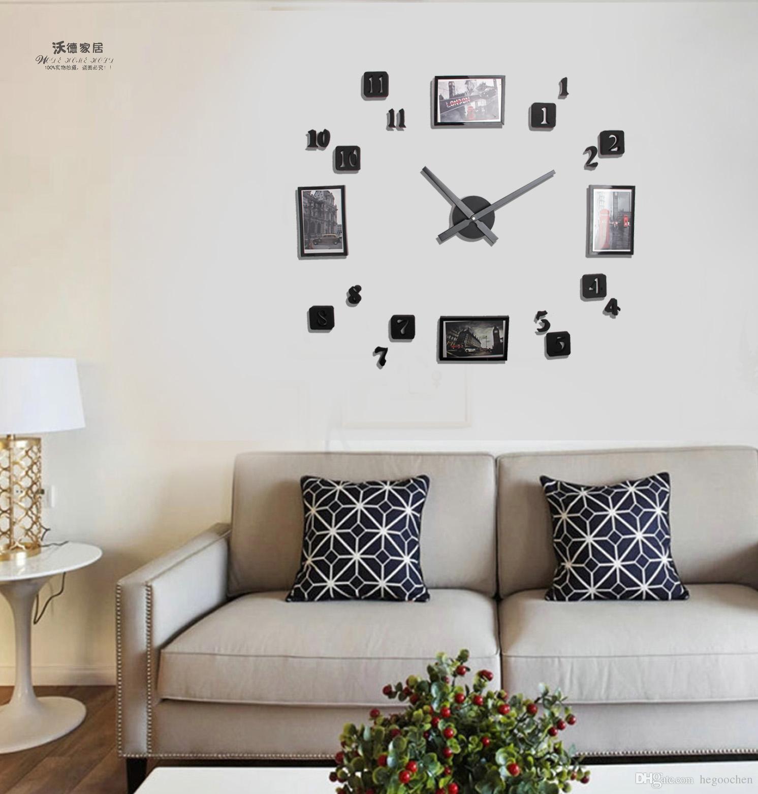 Fullsize Of Digital Clock For Living Room