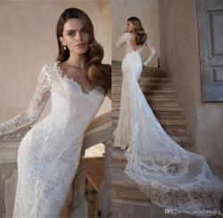 Small Of Lace Long Sleeve Wedding Dress