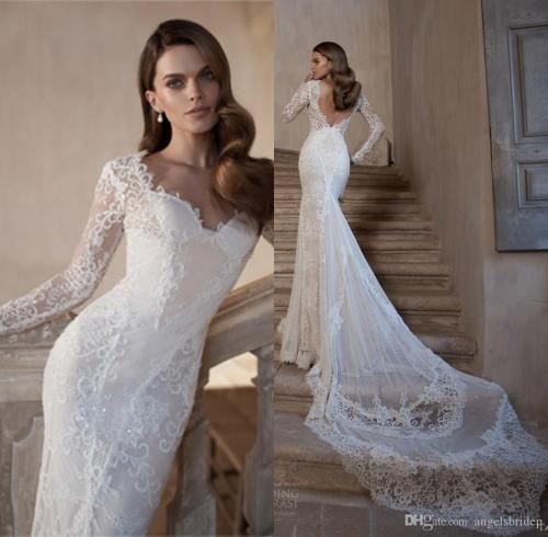 Medium Of Lace Long Sleeve Wedding Dress
