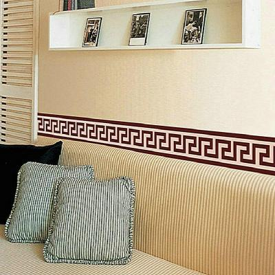 Wall Border Liner Sticker Wall Decor Mural DIY Home Decoration Check Art Mural Wallpaper Decor ...