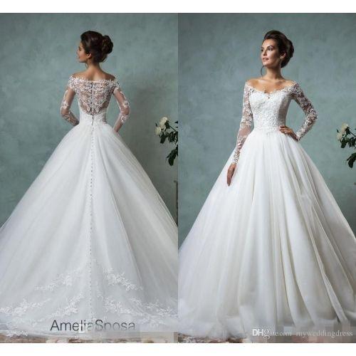 Medium Crop Of Lace Sleeve Wedding Dress