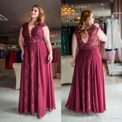 Ritzy Size Occasion Dresses Red Lace Chiffon Size Occasion Dresses Red Lace Chiffon Long Partyrobes De Soiree A Line Length Evening Prom Dress Cheap Boutiqueevening