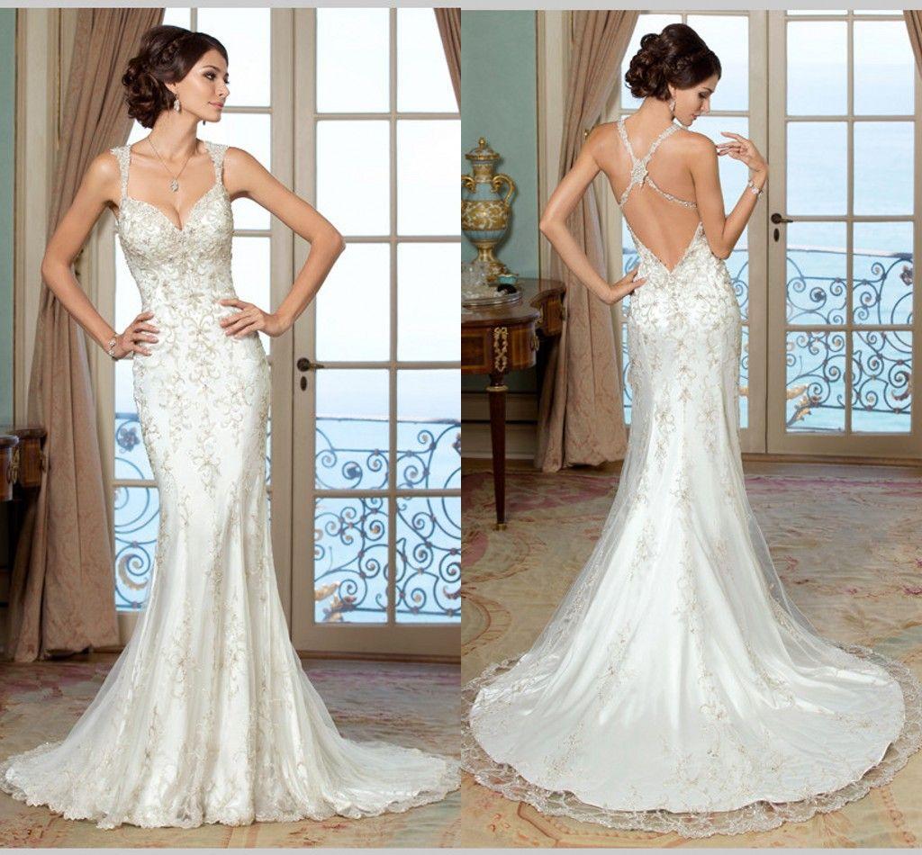 vintage lace wedding dresses low back low back wedding dresses Vintage lace wedding dresses low back