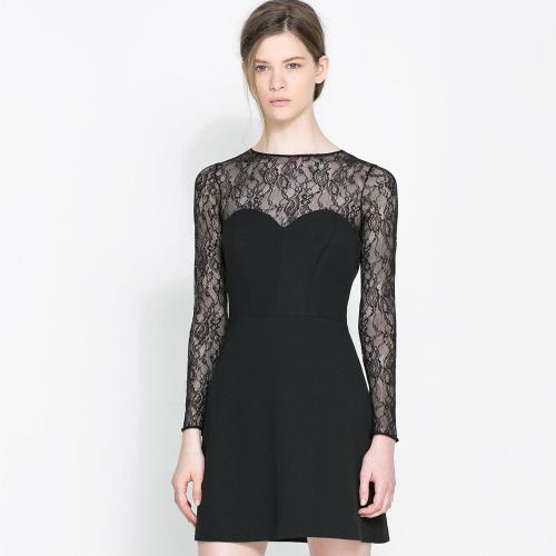 Medium Crop Of Long Sleeve Lace Dress