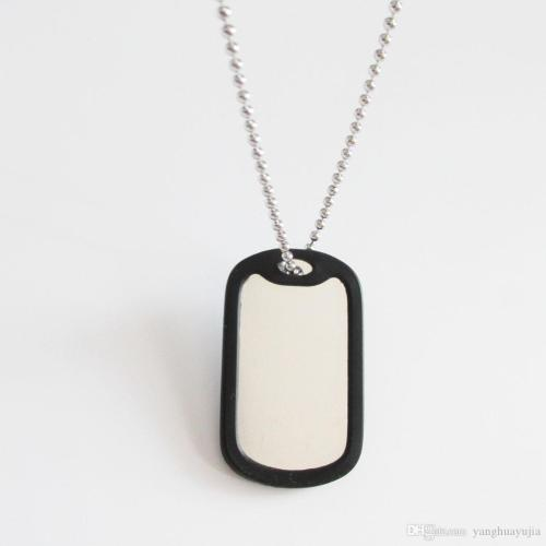 Affordable Bead Chain Rubber Silencer Rubber Silencer Aluminum Military Dog Tag Aluminum Military Dog Tag Silencer Men Pendants Online Bead Chain Army Menpendants Military Dog Tag Dog Tag