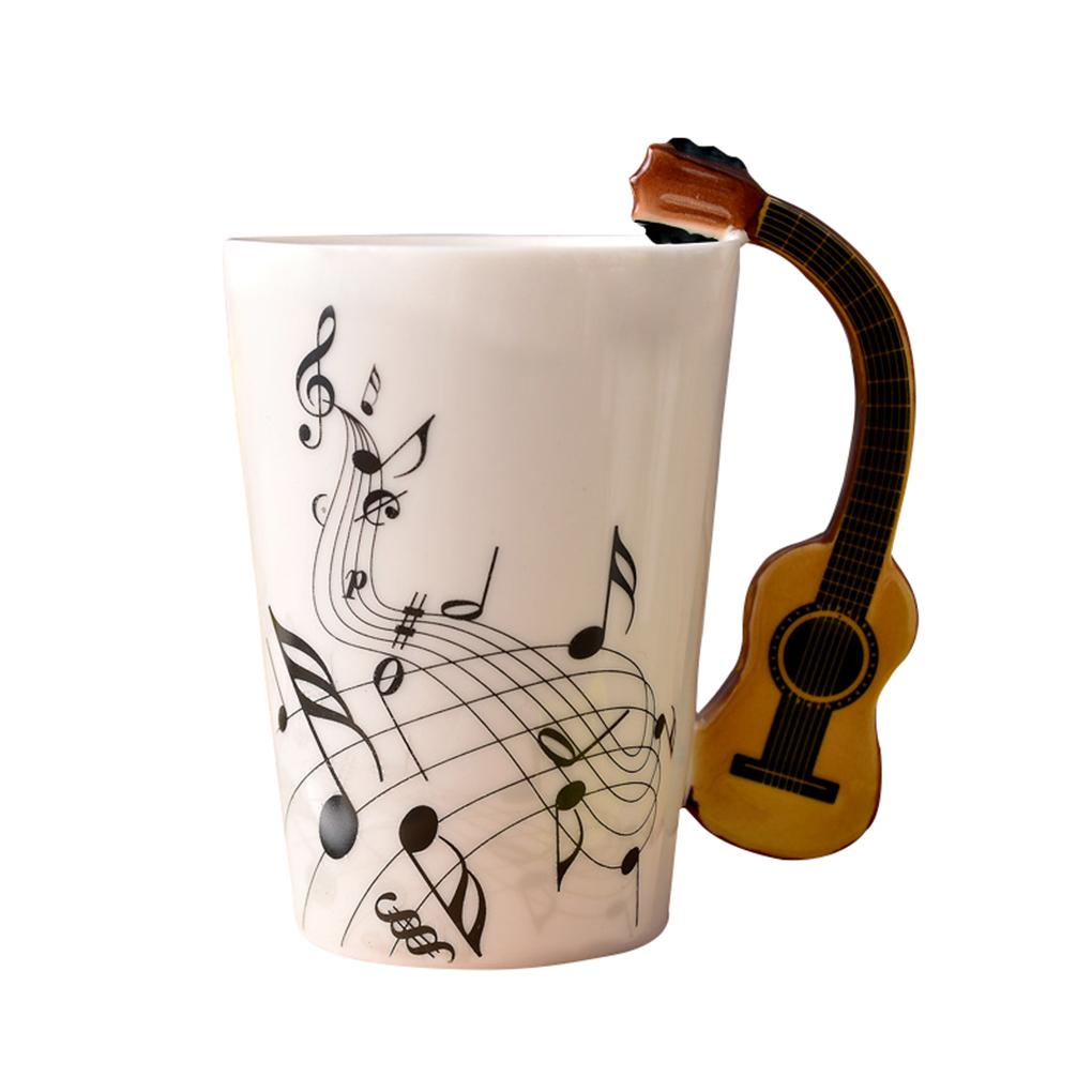 Modern New Ceramic Music Score Design Cups Mugs Violinguitar Hand Shank Coffee Cups Online Shopping Online New Ceramic Music Score Design Cups Mugs With furniture Stylish Coffee Cups
