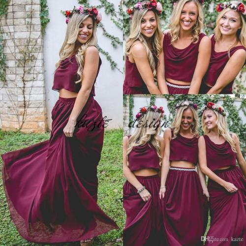 Medium Crop Of Wine Bridesmaid Dresses