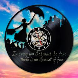 Deluxe Mary Poppins Vinyl Wall Clock Art Gift Room Home Record Vintagedecoration Hanging Clocks Halloween Gift Wall Clocks Online Clocks Mary Poppins Vinyl Wall Clock Art Gift Room Home Record