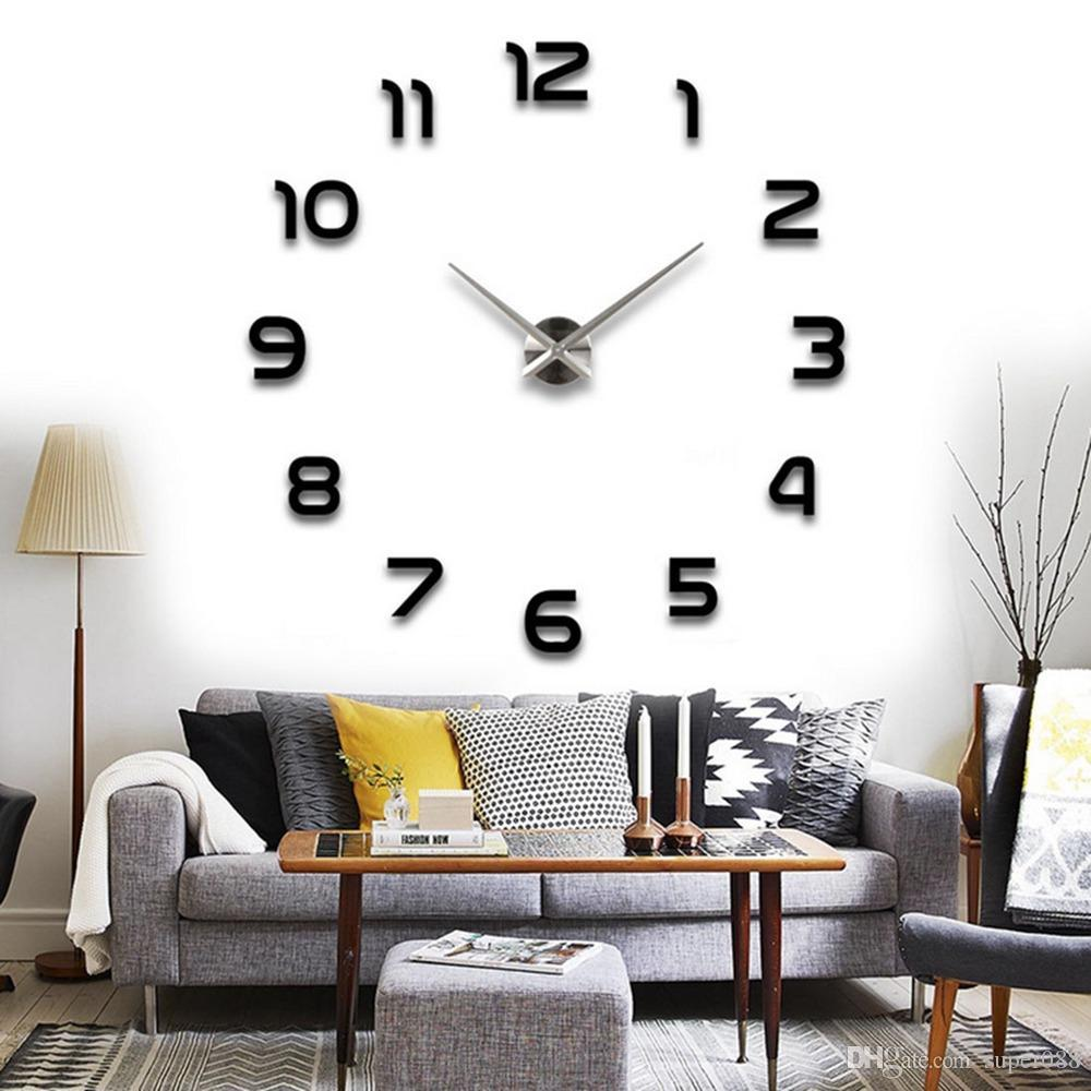 Fanciful Sale Long Wall Clock Arabic Numbers Frameless Large Wall Clock Style Watches Arabic Numbers Frameless Large Wall Clock Style Watches Hours Diyroom Home Decorations Living Room Wall Clocks furniture Wall Watches For Home
