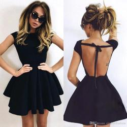 Admirable 2017 Cheap Little Black Cocktail Dresses Halter Ball Gown Backlesshomecoming Gowns Short Party Prom Dress Petite Cocktail Dresses 2017 Cheap Little Black Cocktail Dresses Halter Ball Gown