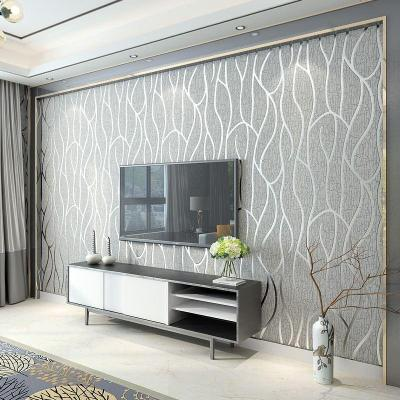 Modern Minimalist Non Woven Wallpaper, Living Room Tv, Wall, 3d, Wallpaper, Bedroom, Film And ...