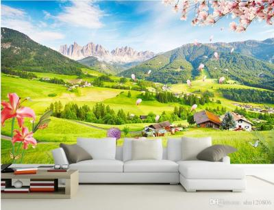 3d Room Wallpaper Custom Photo Mural Outdoor Green View TV Wall Background Wall Painting Picture ...