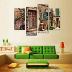 Affordable Discount Panels Wall Art Spanish Town Street Canvas Paintinglandscape Print Giclee Artwork Home Decor Wooden Framed Fromchina Discount Panels Wall Art Spanish Town Street Canvas Painting