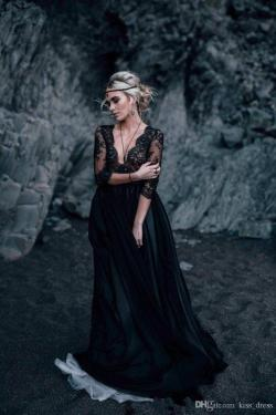 Small Of Black Lace Wedding Dress