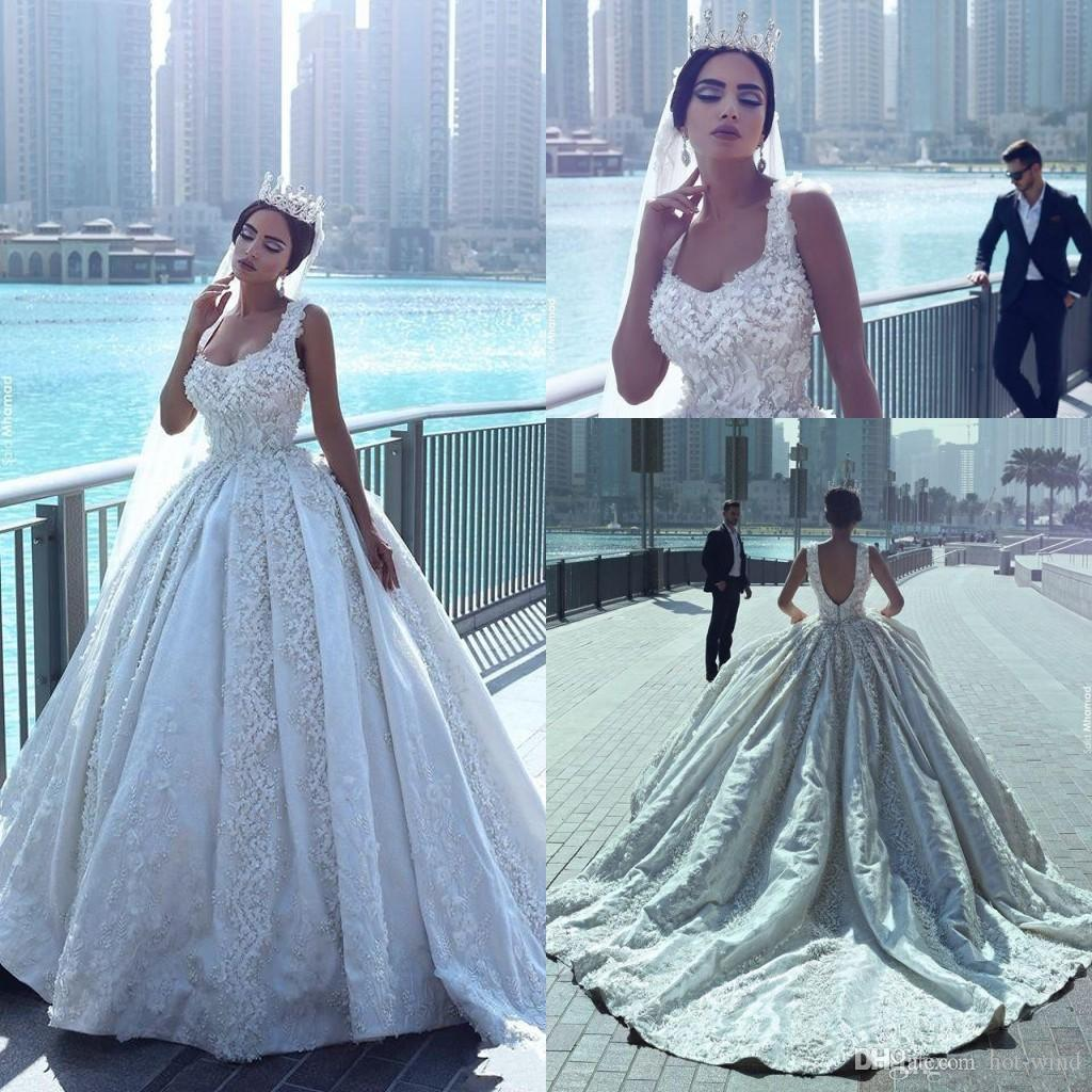 Fun Discount Latest Said Mhamad Luxury Gothic Wedding Dresses Square Neck Floral Appliques Pearls Bridal Gowns Ball Gown Vintage Wedding Gownsbeach Discount Latest Said Mhamad Luxury Gothic Wedding Dr wedding dress Gothic Wedding Dress