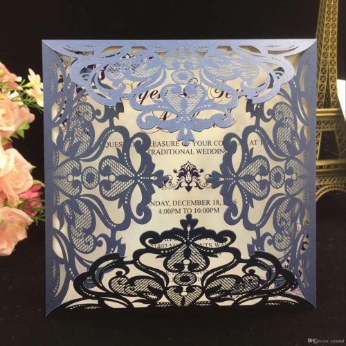 Medium Crop Of Laser Cut Wedding Invitations