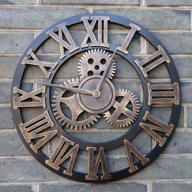 Large Of Large Wall Clocks With Gears