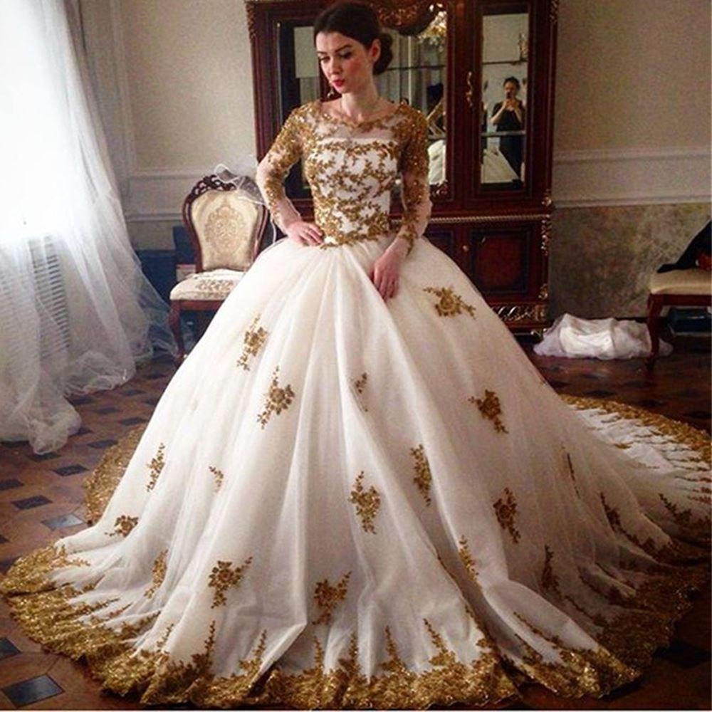 Fullsize Of Gold Wedding Dress