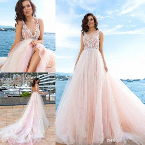 Medium Crop Of Pink Wedding Dresses