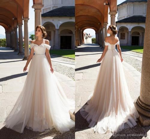 Medium Of A Line Wedding Dresses