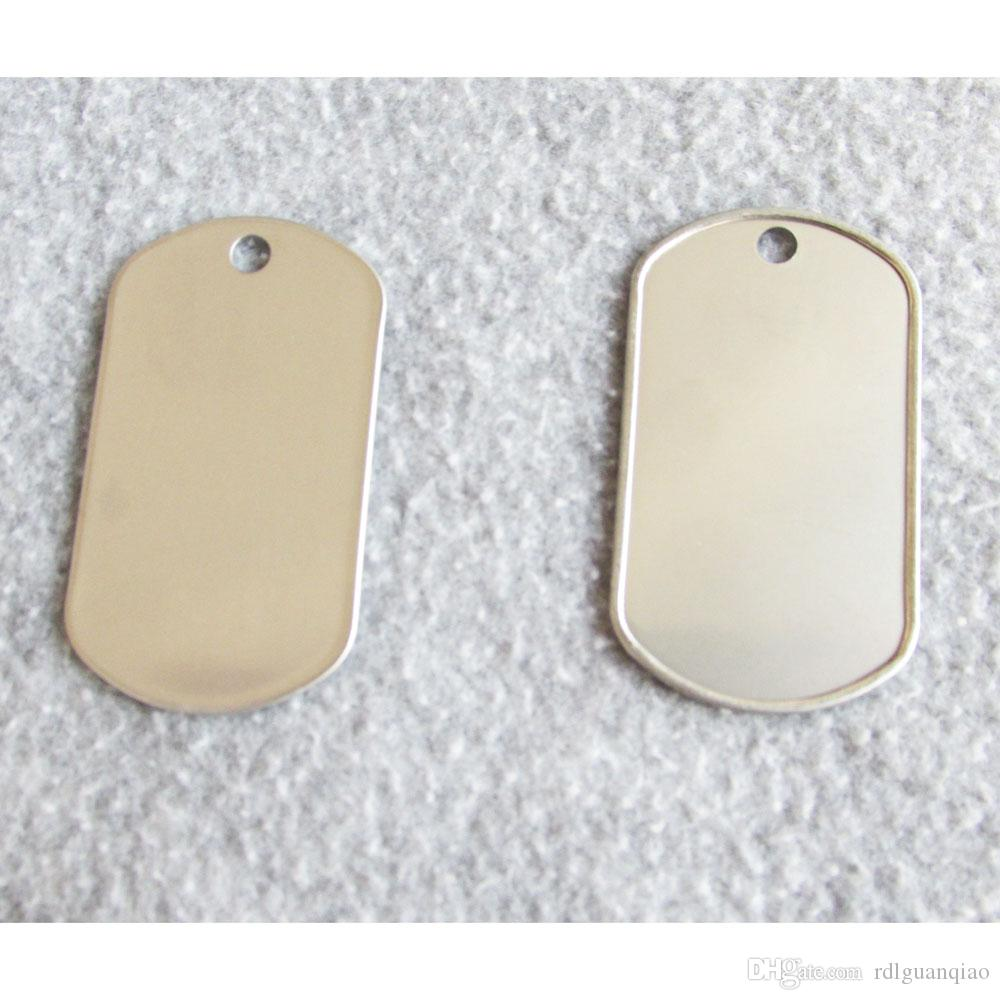 Cool Flanged Army Dog Tags Rolling Edge Stainless Steel Boy Pendants Suitablefor Punching Machine Flanged Army Tag Army Dog Tag Flanged Dog Tags Onlinewith Flanged Army Dog Tags Rolling Edge Stainless inspiration Cheap Dog Tags