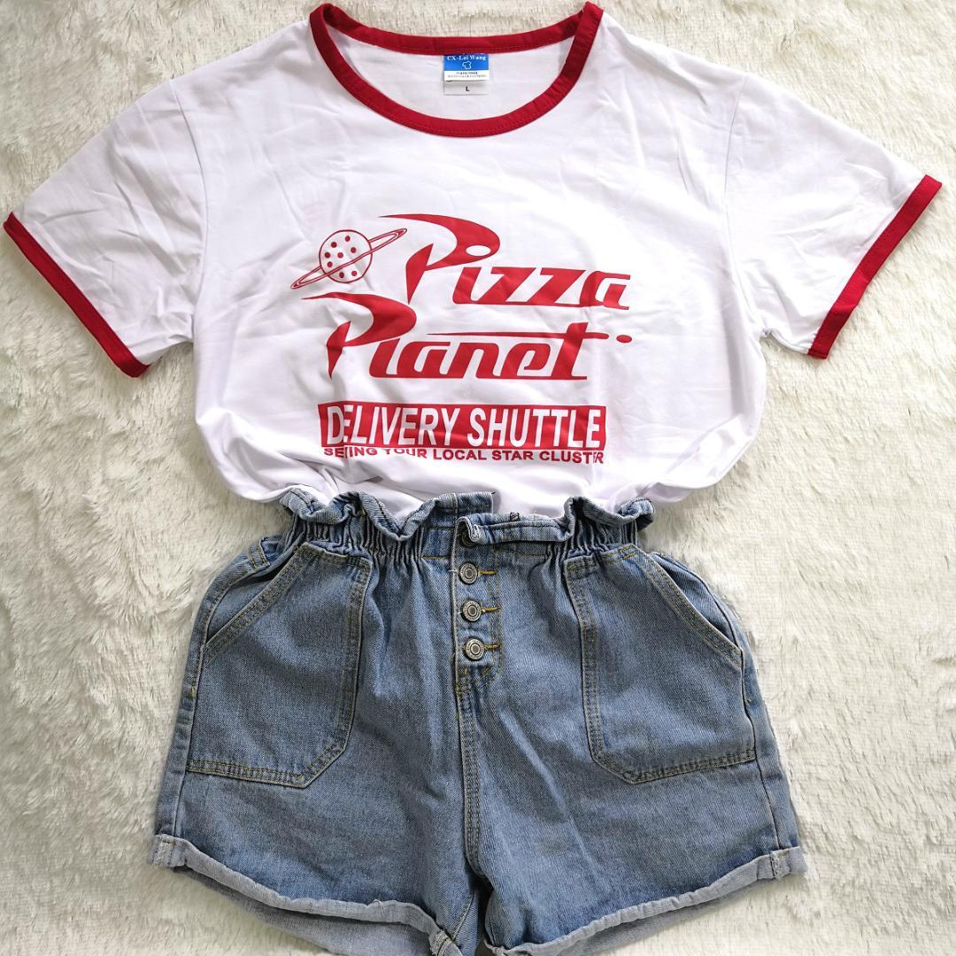 Serene Size Casual O Neck Hipster Tumblr Ringer T Shirtspolitical T Hillbilly Ny Pizza Planet Humor Summer T Shirt Red Edge Ladies Hillbilly Ny Pizza Planet Humor Summer T Shirt Red Edge Ladies Shorts nice food Pizza Planet Shirt