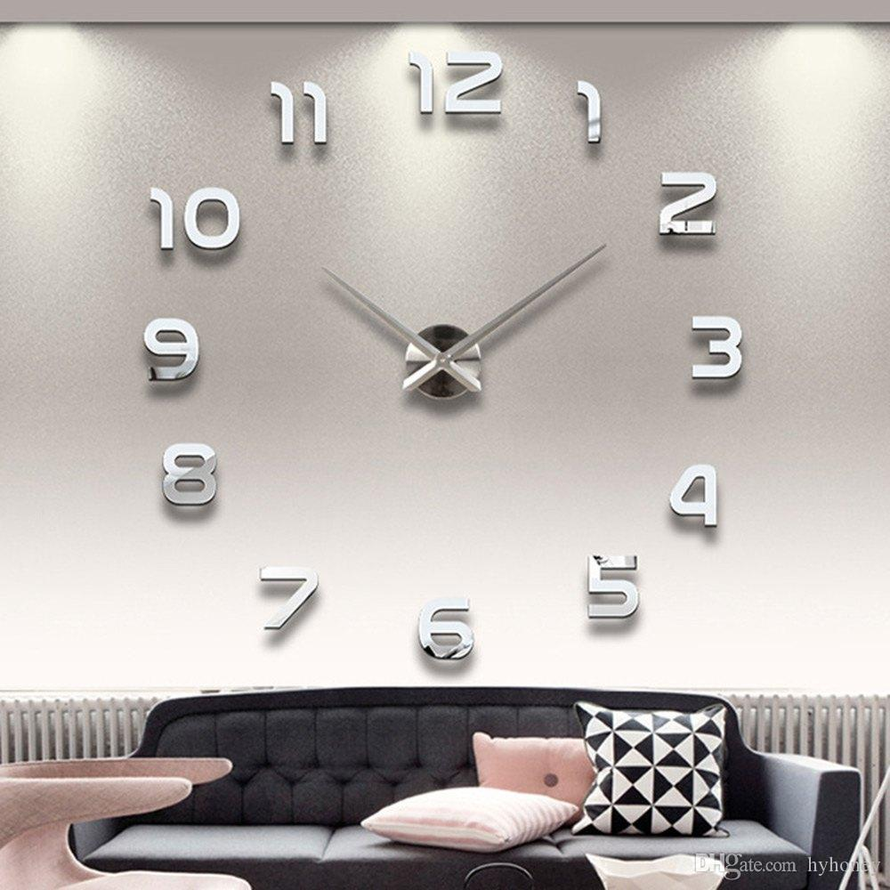 Pool Wholesale Home Decoration Big Number Mirror Wall Clock Design Largedesigner Wall Clock Watch Wall Gifts Oversized Wall Wholesale Home Decoration Big Number Mirror Wall Clock Design houzz-03 Oversized Wall Clock