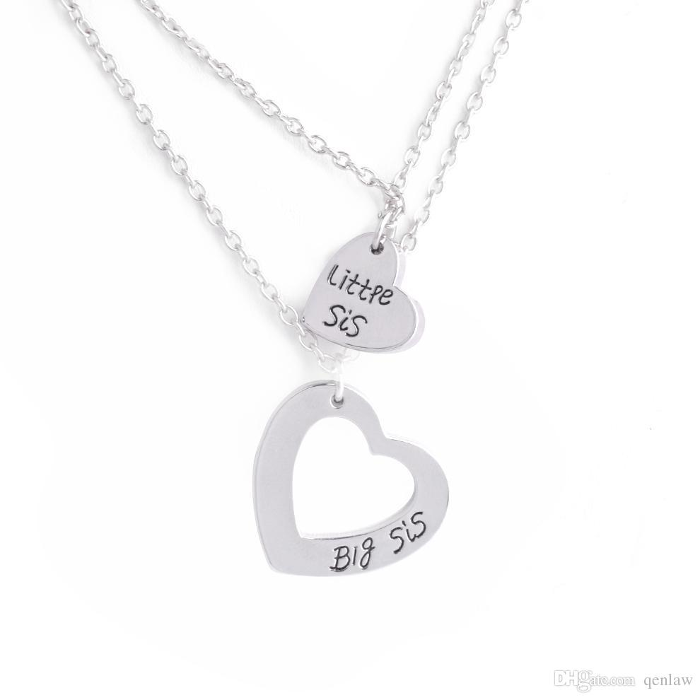 Majestic Wholesale Wholesale Friends Necklace Heart Big Lil Little Sissister Pendant Necklace Girls Bff Choker Friendship Jewelry Gifts Pendantsand Wholesale Wholesale Friends Necklace Heart Big Lil bark post Best Friends Necklace
