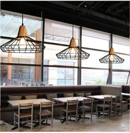 loft iron pendant light vintage industrial lighting wooden chandeliers bar cafe bedroom restaurant nordic country style hanging dining room h