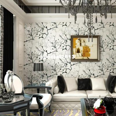 Wallpaper Living Room Tv Wall Background Wall Black And White Grey Brief Abstract Wallpaper 4001 ...