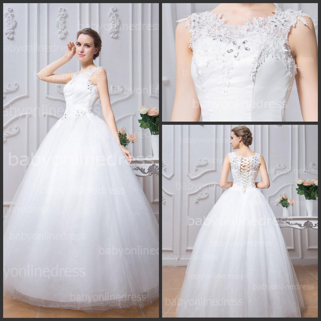 Serene Crystal Lace Wedding Dresses Crew Neck Cap Sleeves Lace Up Back Aline Beach Tulle Bridal Gowns Low Price Under Wedding Dresscouture Crystal Lace Wedding Dresses Crew Neck Cap Sleeves Lace Up wedding dress White Wedding Dress