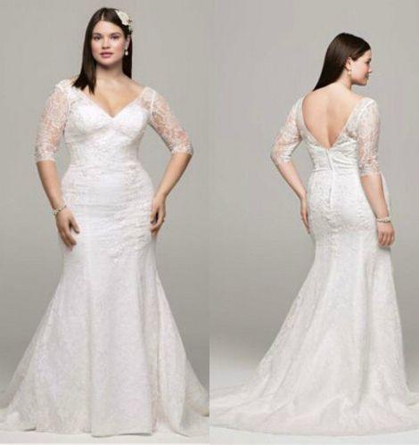 plus size wedding dresses nj plus size wedding dresses Plus size wedding dresses nj Plus Size Sexy Lace V Neck Wedding Dresses Mermaid