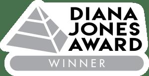 Diana Jones Award logo created by Jeff Mackintosh
