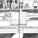 Day 8: Monochrome menagerie with piano