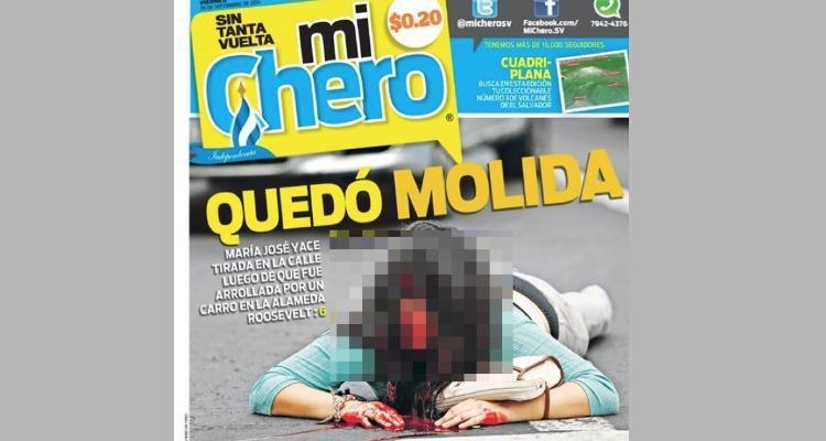 """Demandarán a periódico """"Mi Chero"""" por utilizar foto de joven atropellada"""