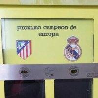 En Madrid se instalan papeleras para votar con colillas quien ganará la Champions