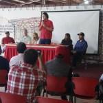 Directiva municipal y delegados del partido sostuvieron reunión.