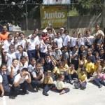 Durante la mañana de ayer, los alumnos de las 3 escuelas corrieron y se divirtieron participando con los partidos de kickingball