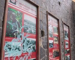 Graffitis se hallan en todas las imágenes históricas del lugar