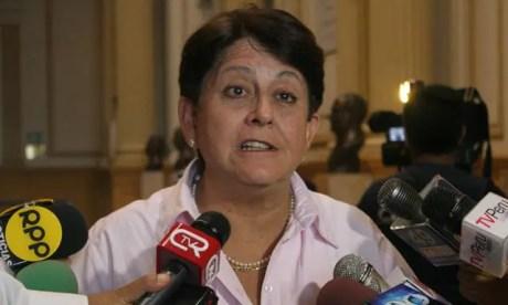 La vicepresidenta de la Comisión de Relaciones Exteriores del Congreso, Lourdes Alcorta.