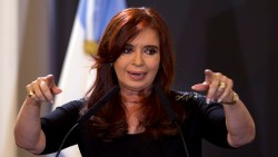 Argentina's President Cristina Fernandez speaks during a signing agreements ceremony at the government house in Buenos Aires, Argentina, Wednesday, Jan. 25, 2012.  Fernandez is back on the job after taking medical leave for surgery on her thyroid to deal with what turned out to be a false cancer scare. (AP Photo/Natacha Pisarenko)