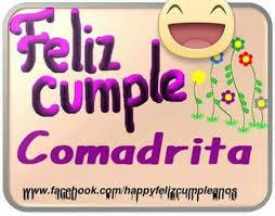 Feliz cumpleaños comadre