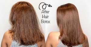 Botox capilar antes y después