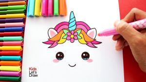 Fotos de dibujos kawaii de unicornios