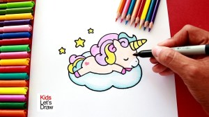 dibujos kawaii de unicornios paso paso