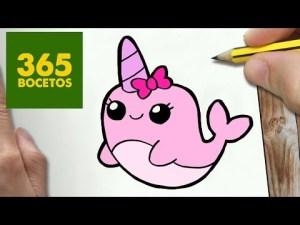 Dibujos kawaii de animales marinos