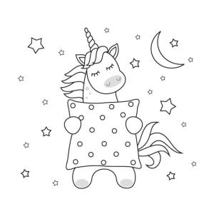 Dibujos kawaii de unicornios para dibujar