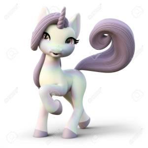 87919218-unicornio-lindo-de-la-fantasía-de-toon-en-un-fondo-blanco-aislado-representación-3d