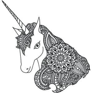 Dibujos de unicornios mandalas